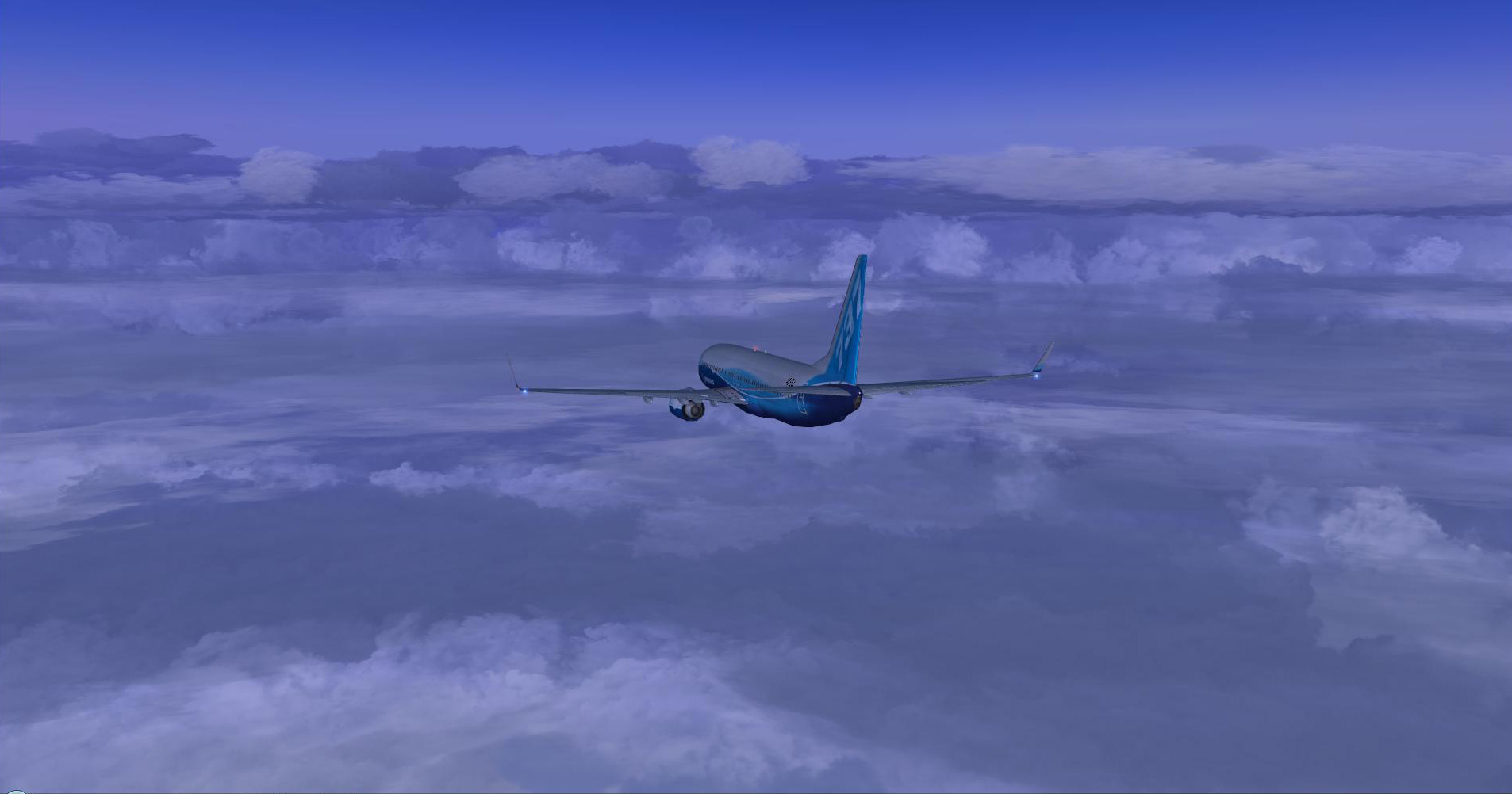 Enroute PHX-LAX. Nice looking clouds. Default FSX B738.